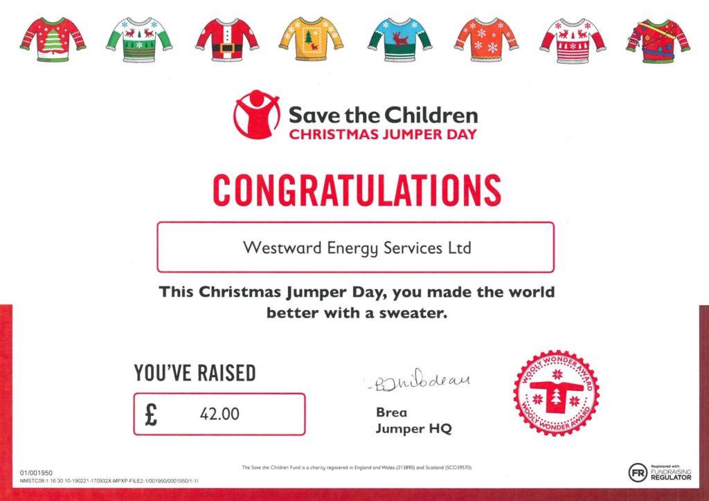 Christmas Jumper Day 2019.Westward Christmas Jumper Day Westward Energy Services